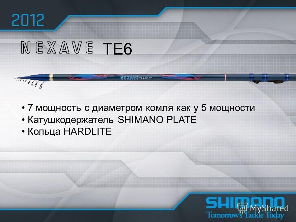TE6 7 мощность с диаметром комля как у 5 мощности Катушкодержатель SHIMANO PLATE Кольца HARDLITE