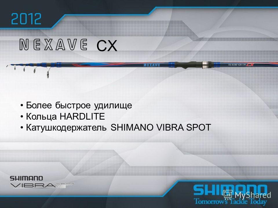 Более быстрое удилище Кольца HARDLITE Катушкодержатель SHIMANO VIBRA SPOT CX