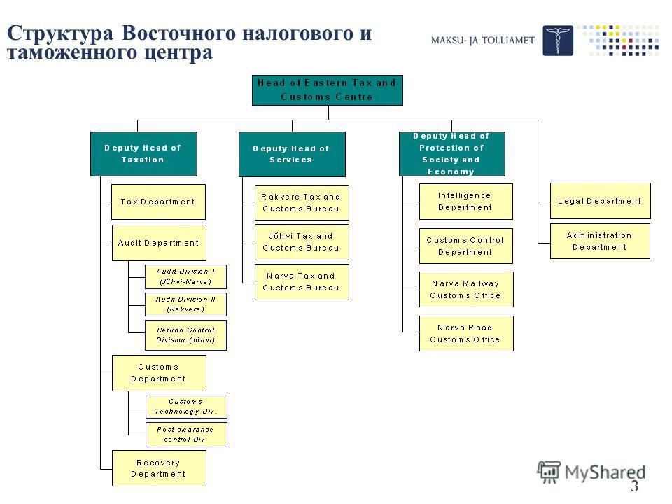 3 Структура Восточного налогового и таможенного центра