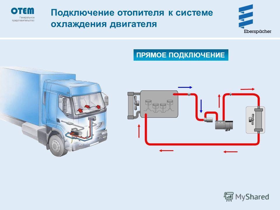 Подключение отопителя к системе охлаждения двигателя ПРЯМОЕ ПОДКЛЮЧЕНИЕ OTEM Генеральное представительство