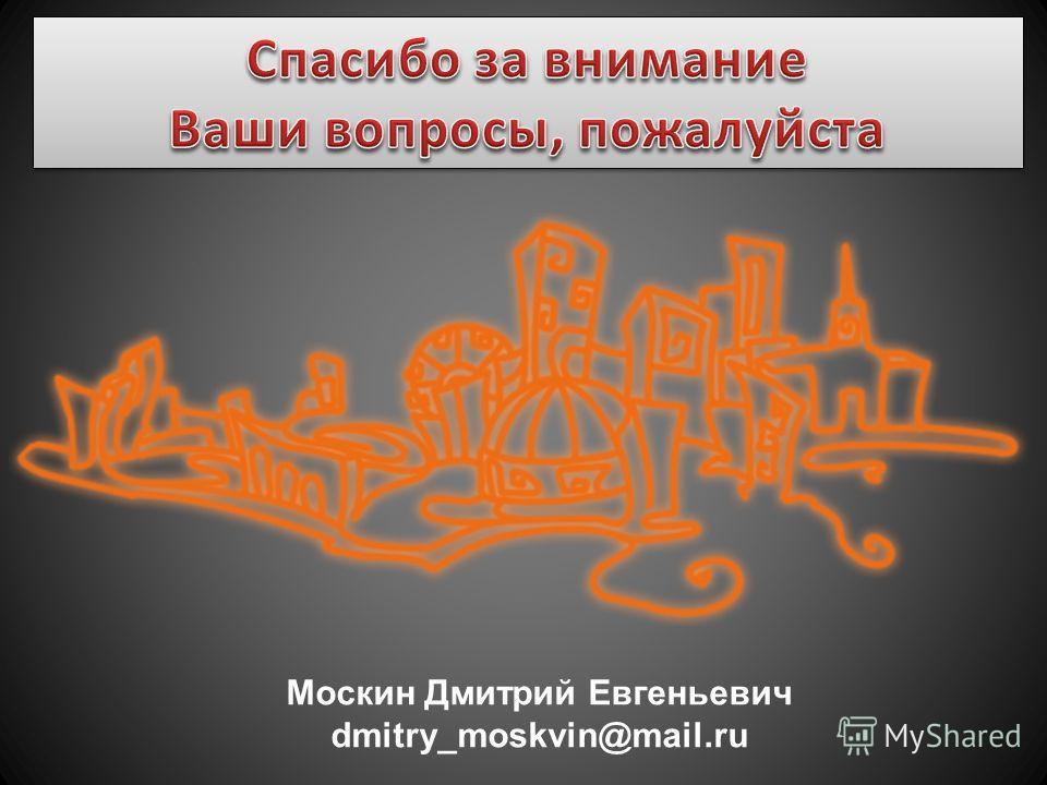 Москин Дмитрий Евгеньевич dmitry_moskvin@mail.ru