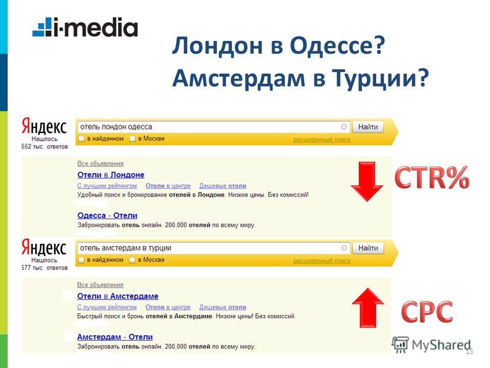 / Заголовок слайда 15 Лондон в Одессе? Амстердам в Турции?