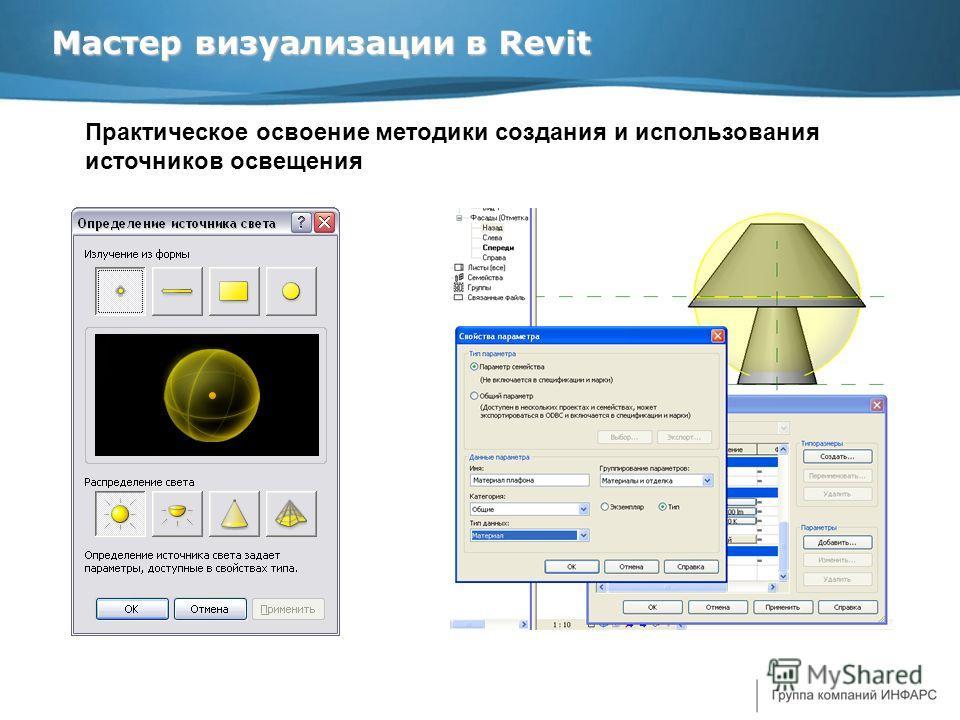 Мастер визуализации в Revit Практическое освоение методики создания и использования источников освещения