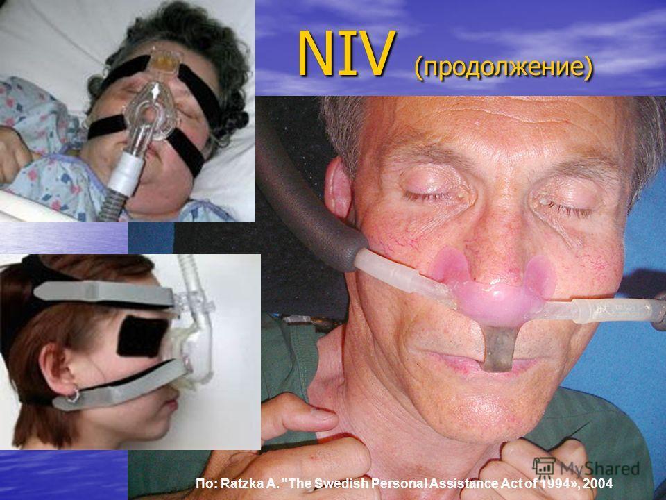 6 NIV (продолжение) По: Ratzka A. The Swedish Personal Assistance Act of 1994», 2004