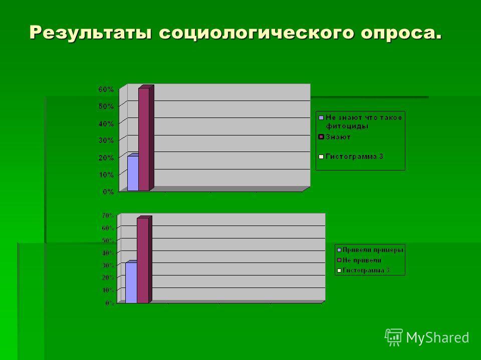 Результаты социологического опроса.