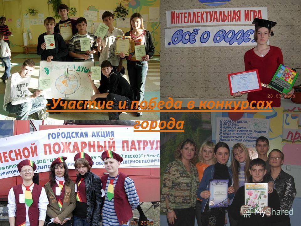 -Участие и победа в конкурсах города