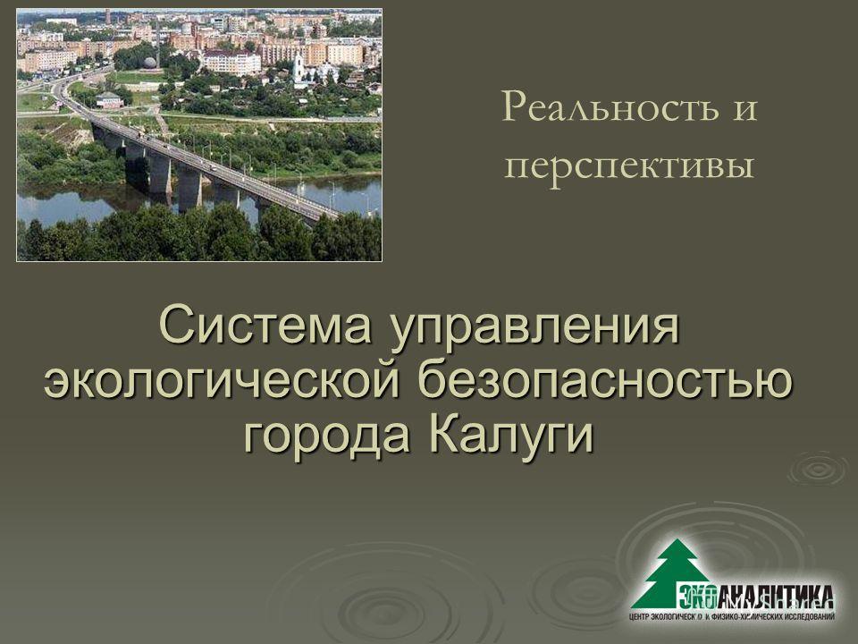 Система управления экологической безопасностью города Калуги Реальность и перспективы