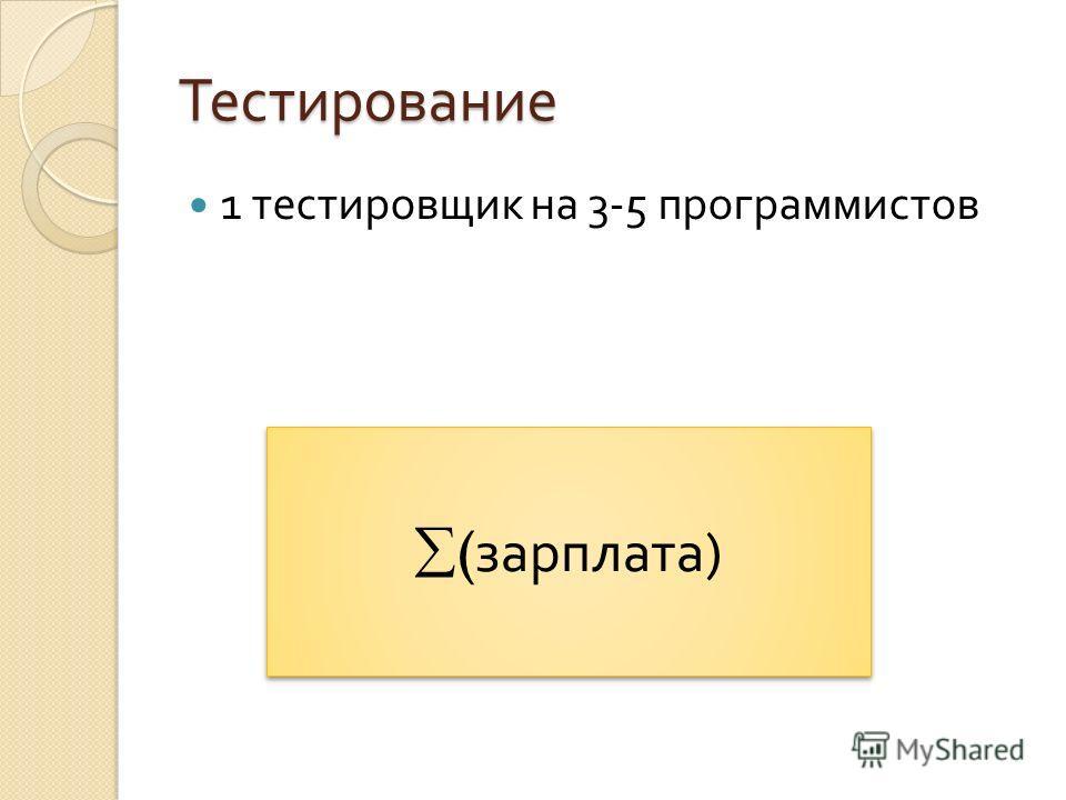 Тестирование 1 тестировщик на 3-5 программистов ( зарплата )