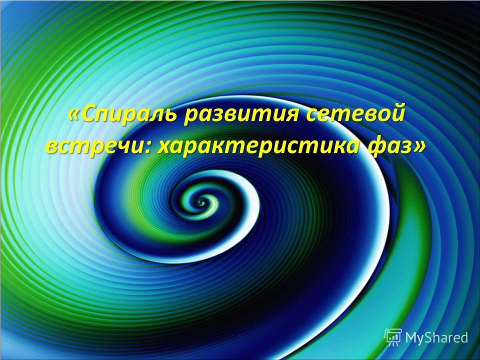 «Спираль развития сетевой встречи: характеристика фаз»