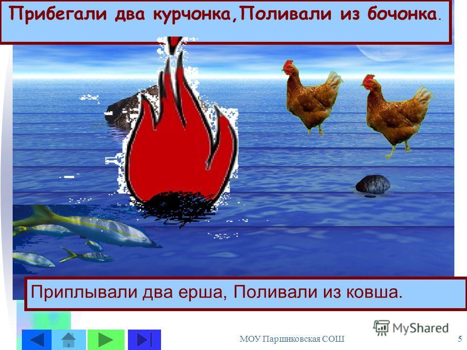 МОУ Паршиковская СОШ 4 Долго, долго крокодил Море синее тушил Пирогами и блинами, И сушеными грибами.