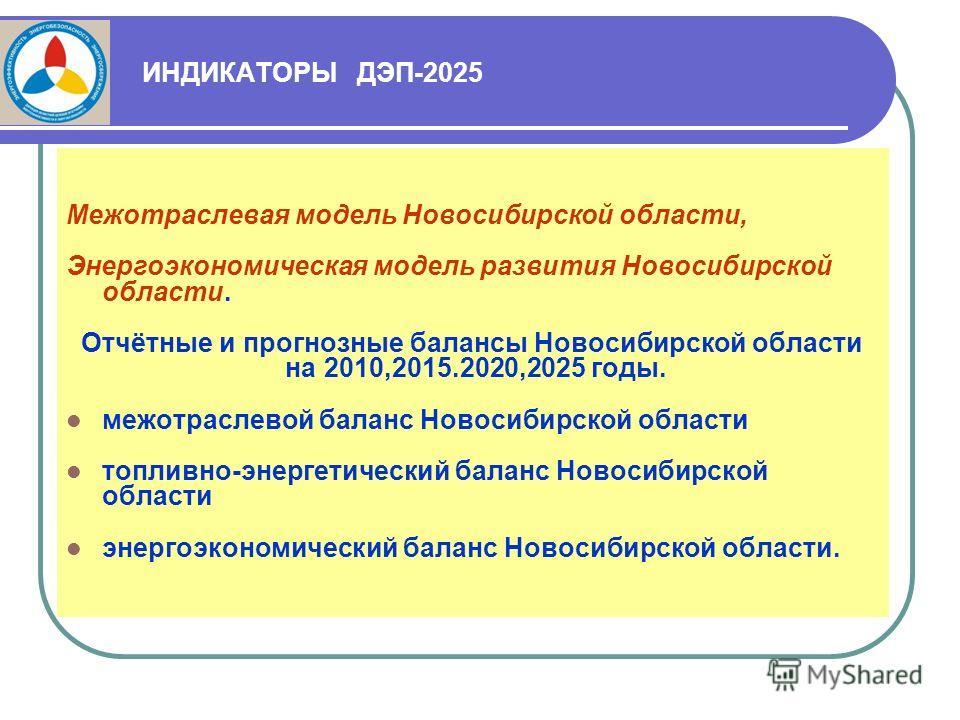 ИНДИКАТОРЫ ДЭП-2025 Межотраслевая модель Новосибирской области, Энергоэкономическая модель развития Новосибирской области. Отчётные и прогнозные балансы Новосибирской области на 2010,2015.2020,2025 годы. межотраслевой баланс Новосибирской области топ