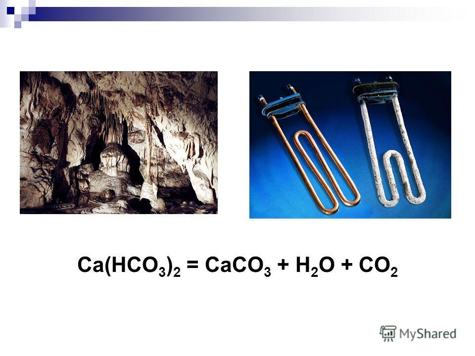 Ca(HCO 3 ) 2 = CaCO 3 + H 2 O + CO 2
