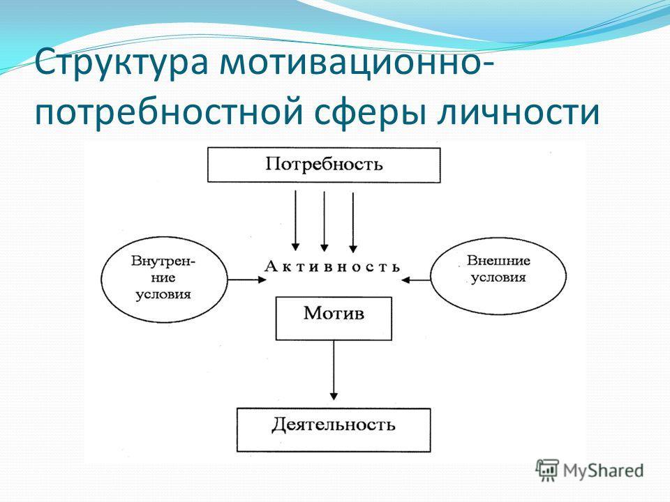 Структура мотивационно- потребностной сферы личности