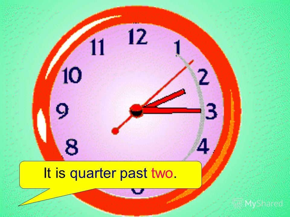 It is quarter past two.