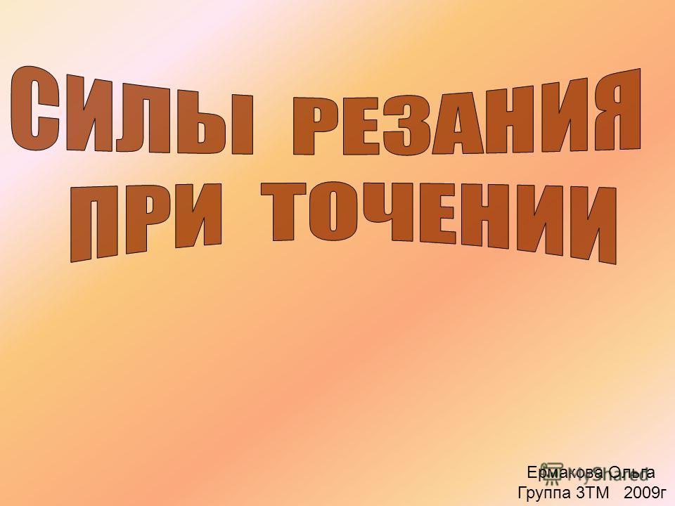 Ермакова Ольга Группа 3ТМ 2009г