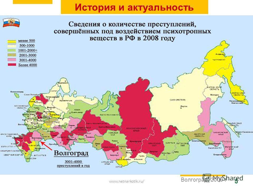 www.netnarkotik.ru/ 5 Волгоград, 2009 г История и актуальность
