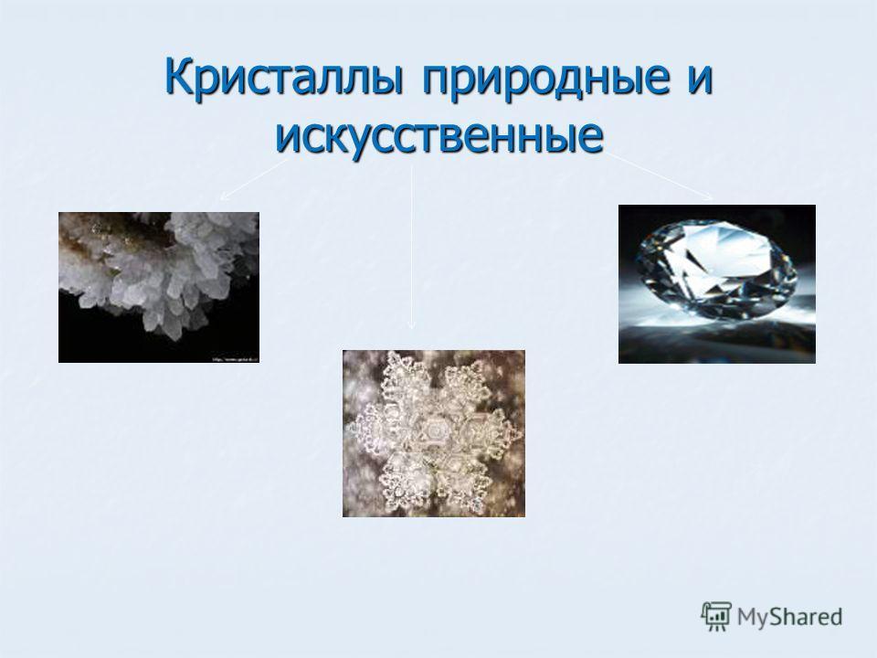 Кристаллы природные и искусственные