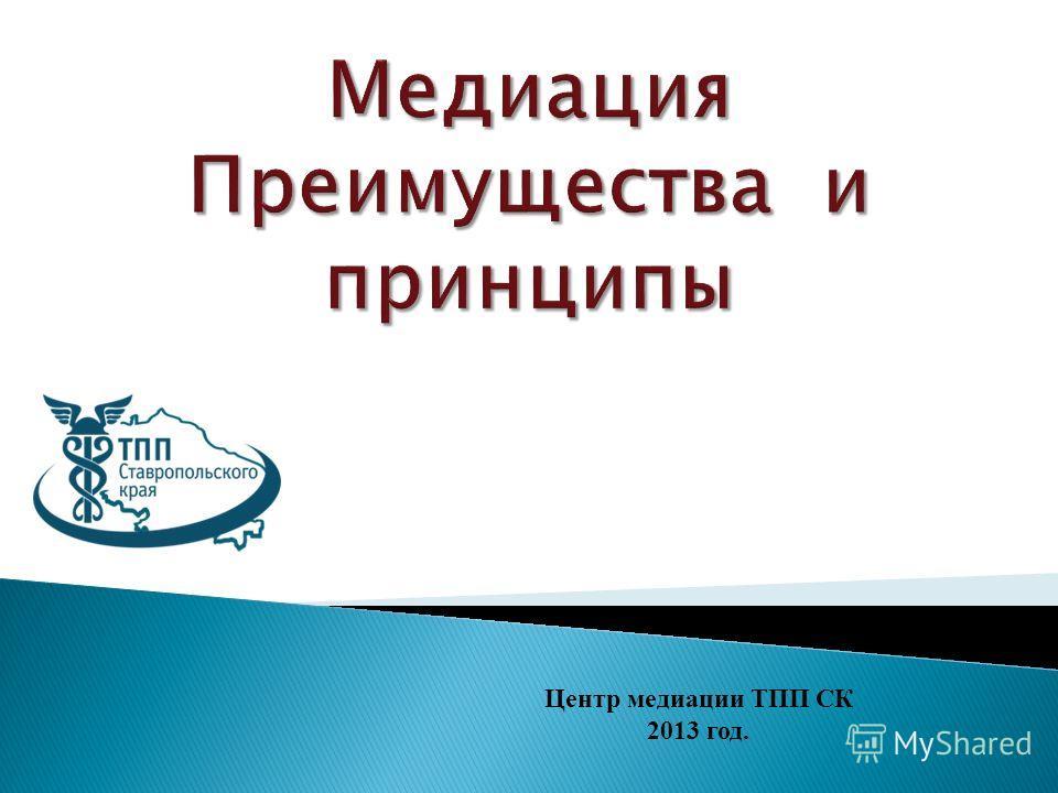Центр медиации ТПП СК 2013 год.