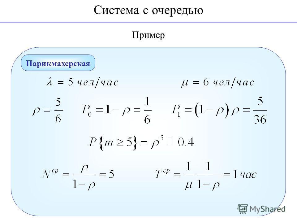 Пример Система с очередью Парикмахерская