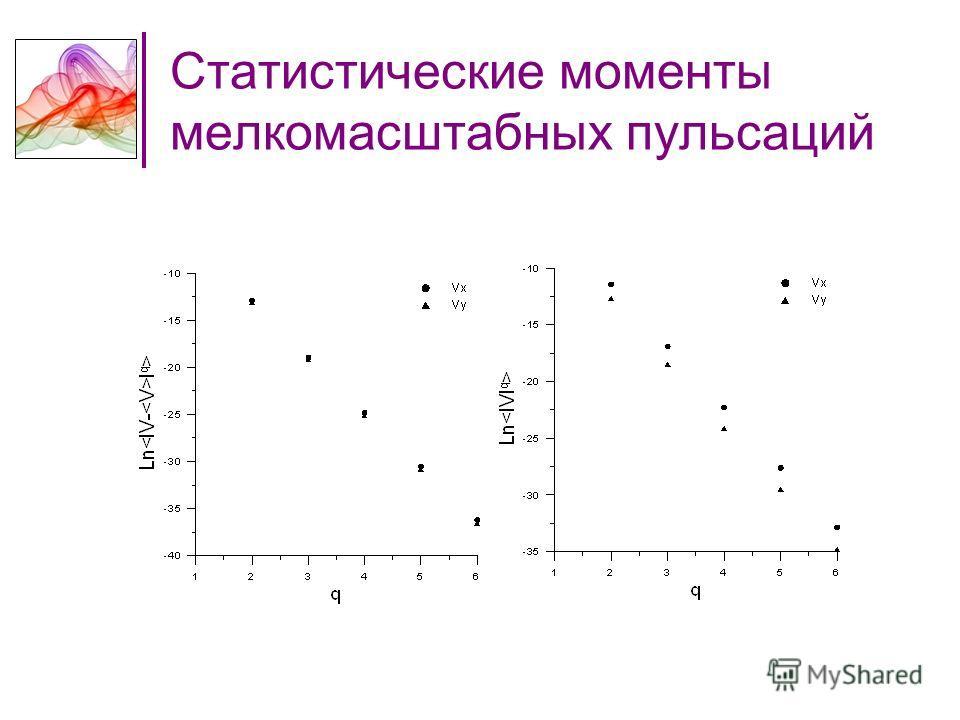 Статистические моменты мелкомасштабных пульсаций