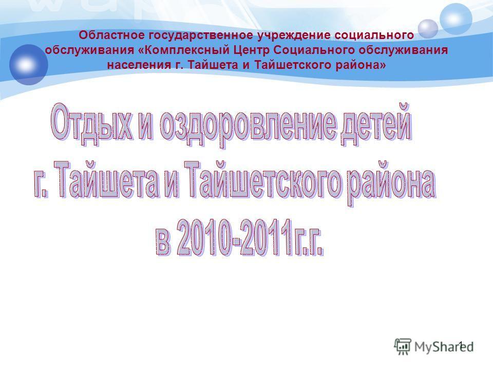 1 Областное государственное учреждение социального обслуживания «Комплексный Центр Социального обслуживания населения г. Тайшета и Тайшетского района»