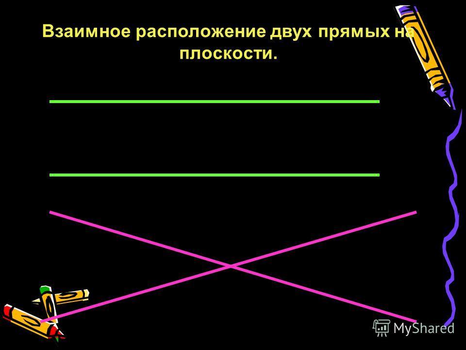 Пожванова Г.А. 187 Взаимное расположение двух прямых на плоскости.