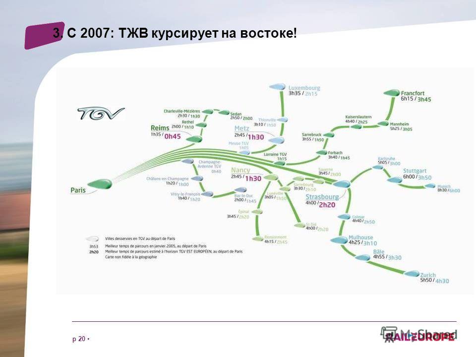 p 20 3. С 2007: ТЖВ курсирует на востоке!