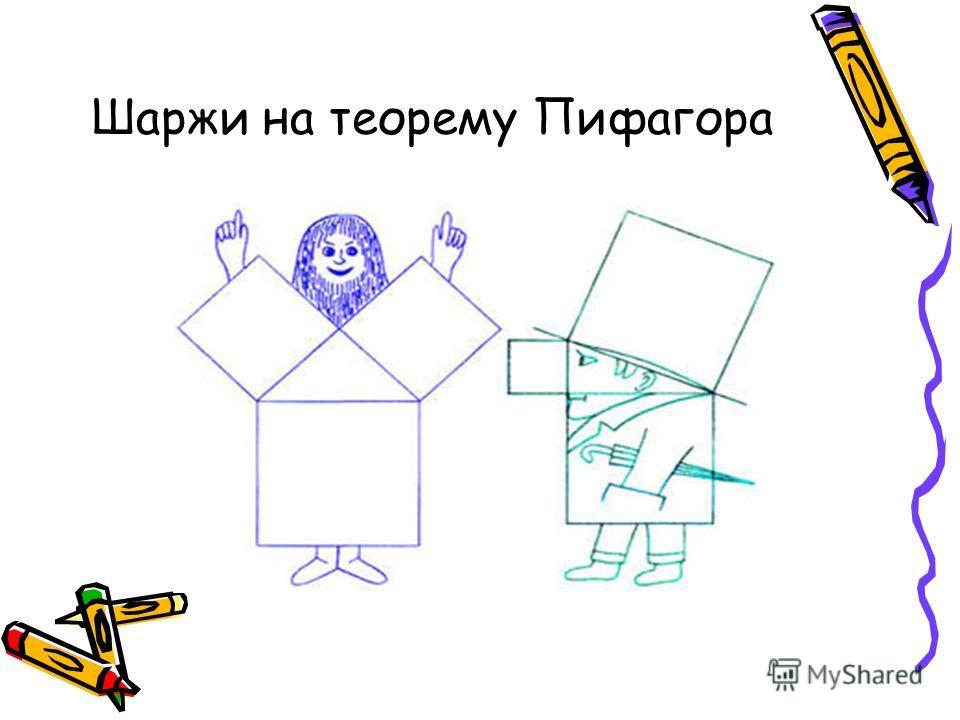 Шаржи на теорему Пифагора