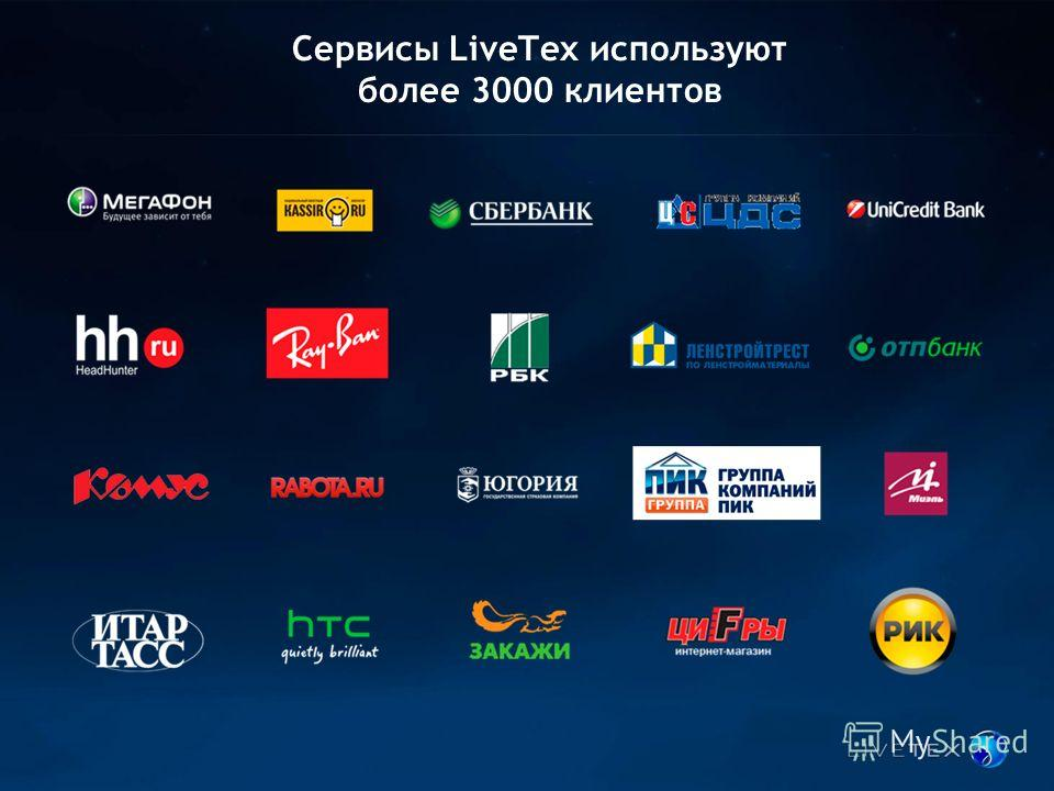 Сервисы LiveTex используют более 3000 клиентов
