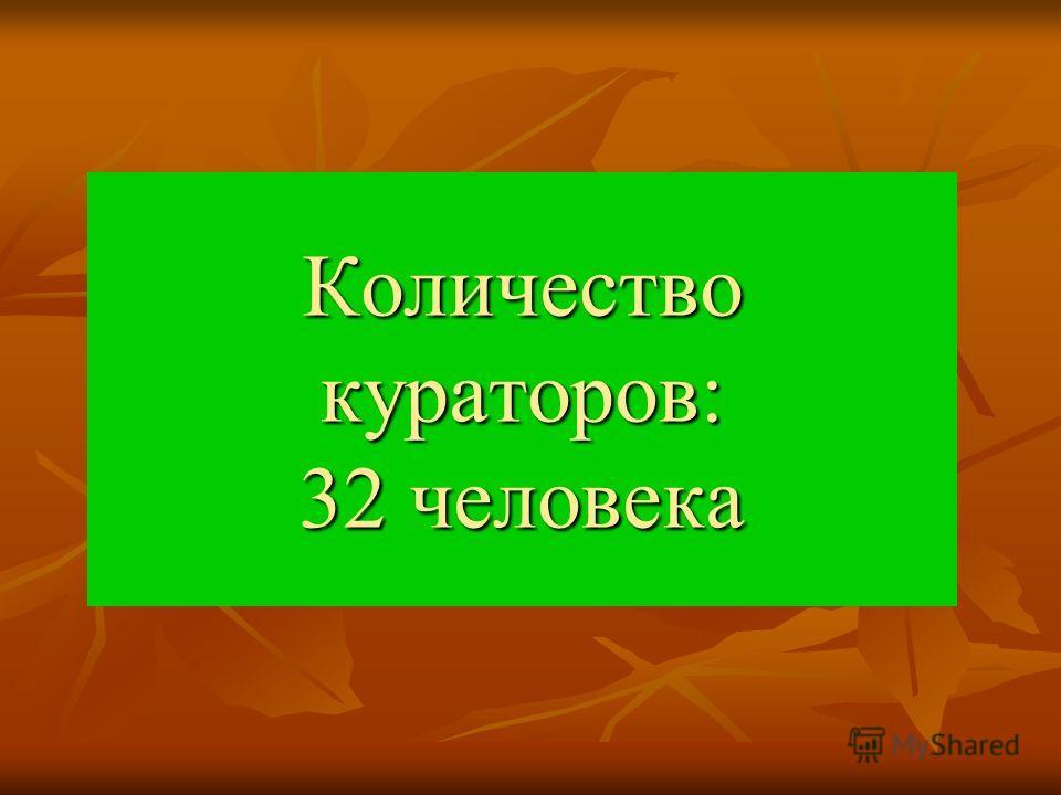 Количество кураторов: 32 человека