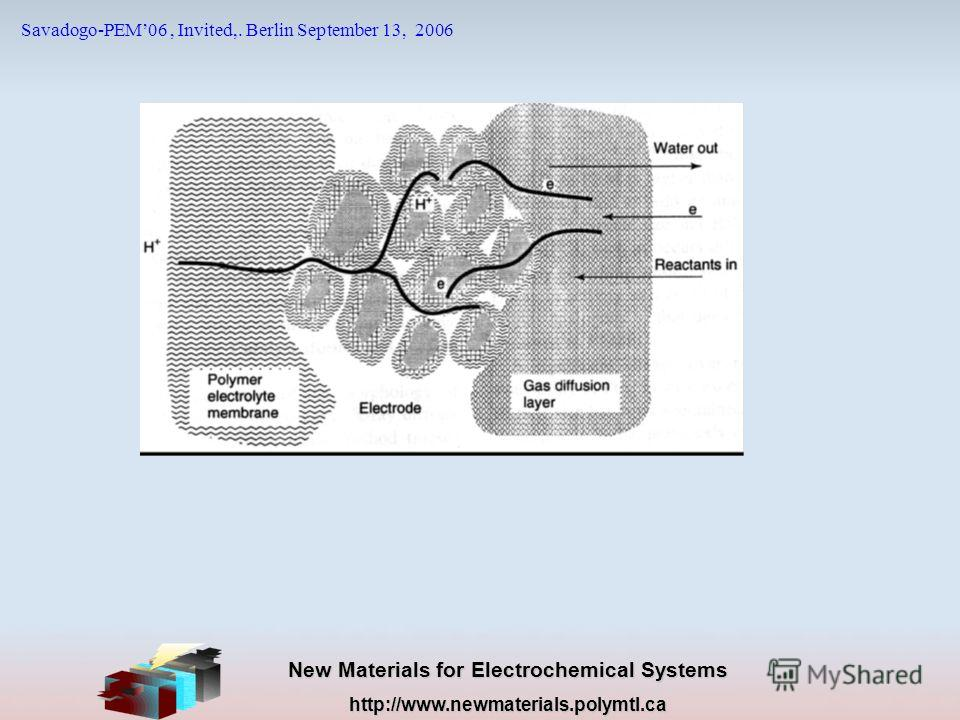 New Materials for Electrochemical Systems http://www.newmaterials.polymtl.ca Savadogo-PEM06, Invited,. Berlin September 13, 2006