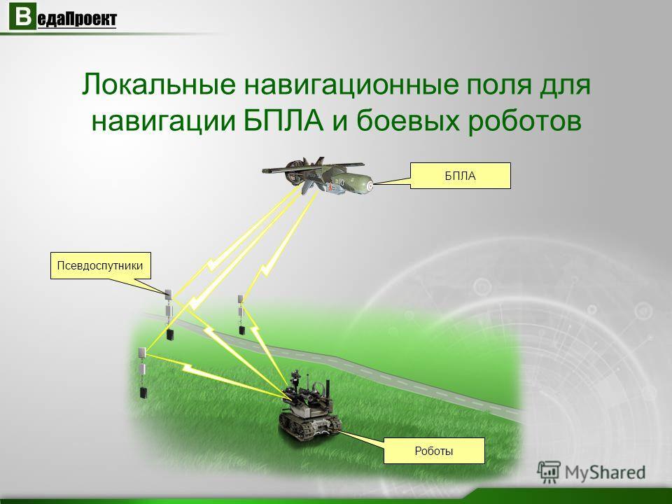 Локальные навигационные поля для навигации БПЛА и боевых роботов Псевдоспутники БПЛА Роботы