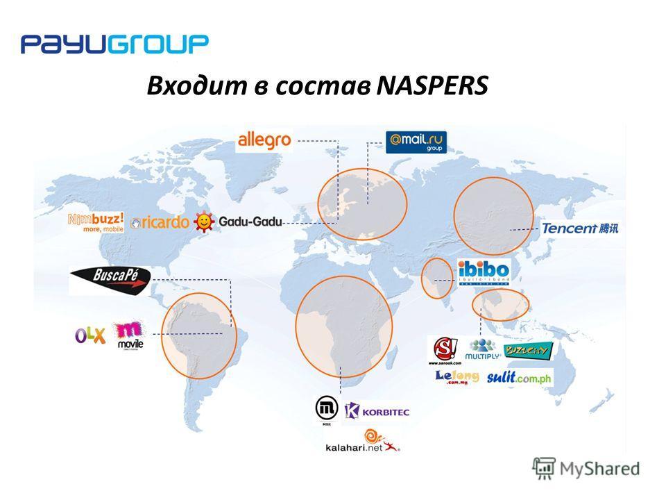 Входит в состав NASPERS
