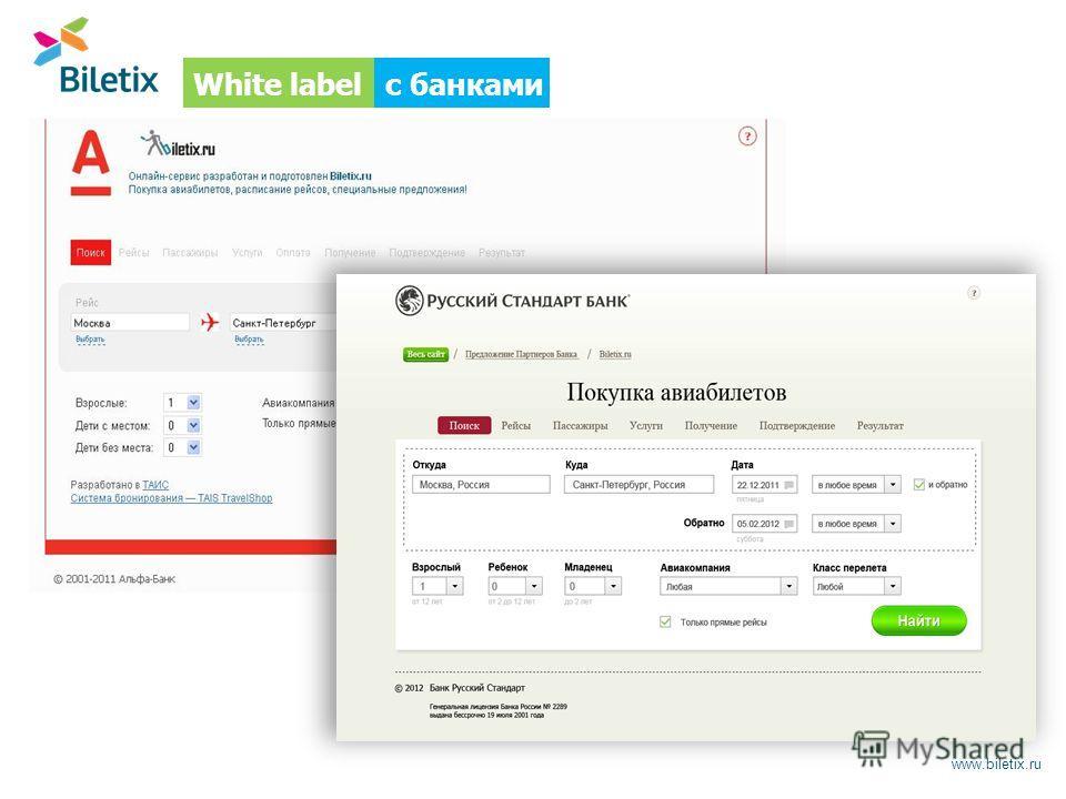 www.biletix.ru с банкамиWhite label