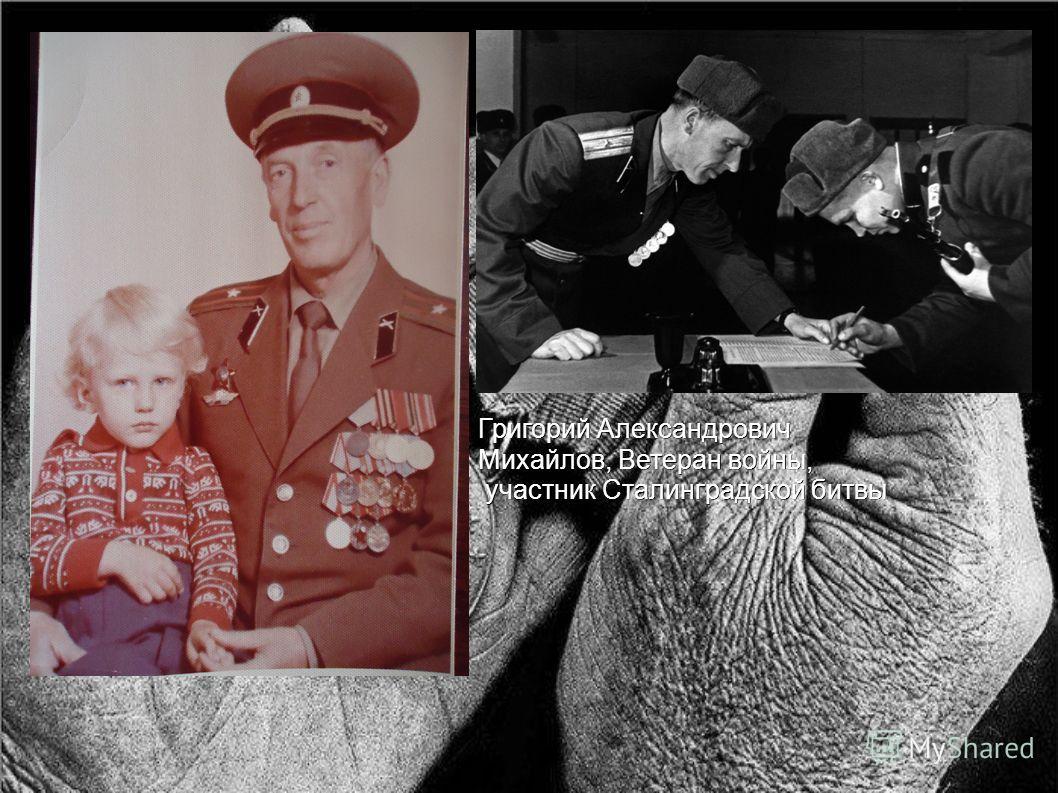 Григорий Александрович Михайлов, Ветеран войны, участник Сталинградской битвы участник Сталинградской битвы