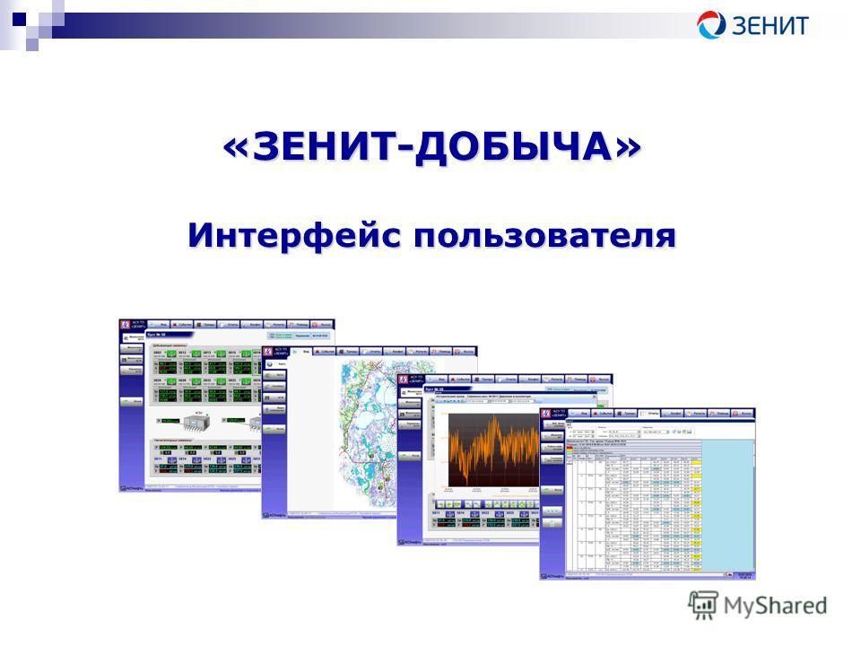 «ЗЕНИТ-ДОБЫЧА» Интерфейс пользователя