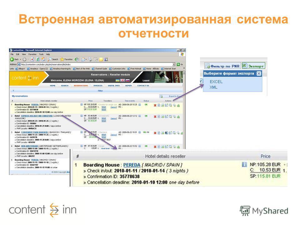 Встроенная автоматизированная система отчетности