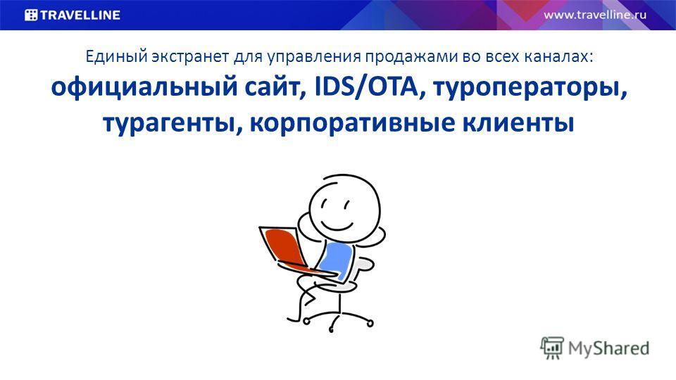 Единый экстранет для управления продажами во всех каналах: официальный сайт, IDS/OTA, туроператоры, турагенты, корпоративные клиенты