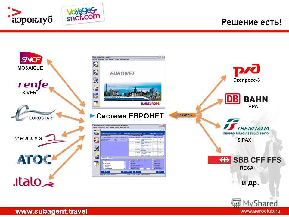 Система ЕВРОНЕТ Экспресс-3 MOSAIQUE EPA SIPAX SIVER RESA+ и др. Hermes www.subagent.travel