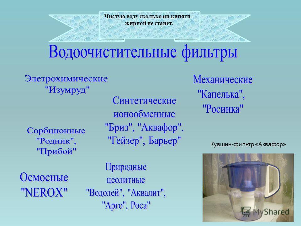 Чистую воду сколько ни кипяти - жирной не станет. Кувшин-фильтр «Аквафор»
