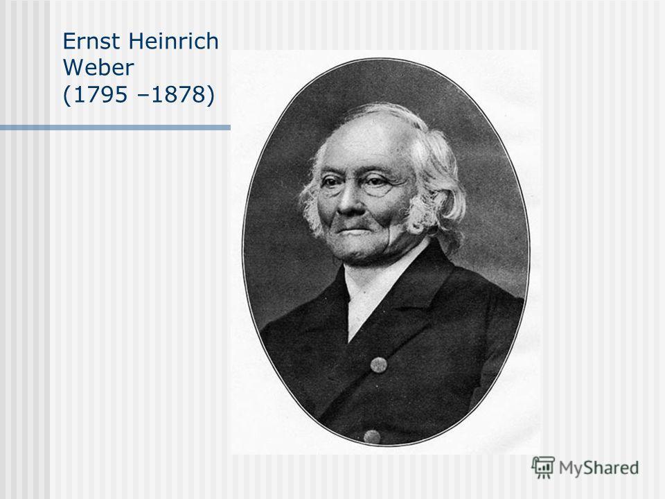 Ernst Heinrich Weber (1795 –1878)