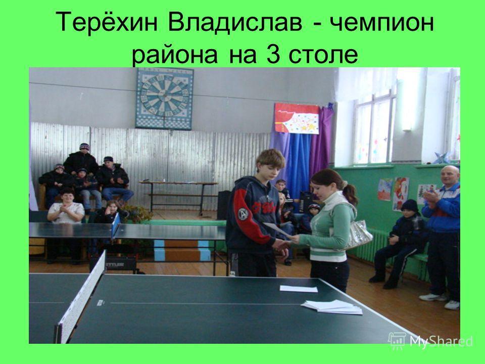 Терёхин Владислав - чемпион района на 3 столе