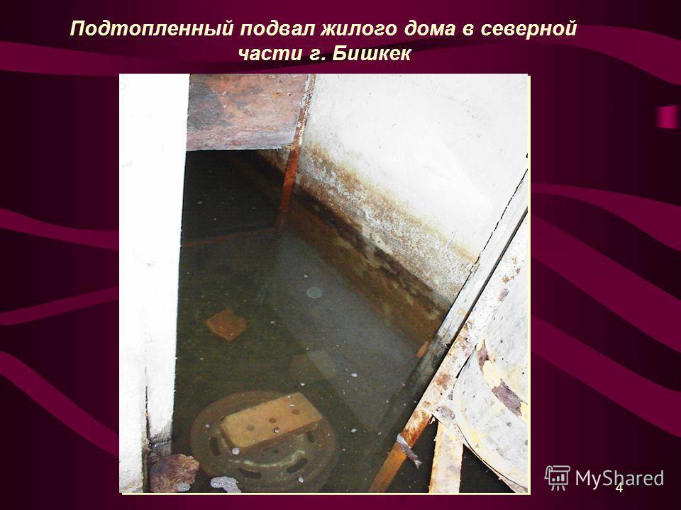 4 Подтопленный подвал жилого дома в северной части г. Бишкек