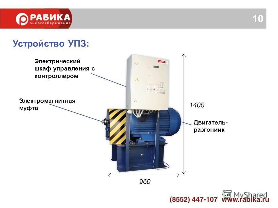 10 1400 960 Электрический шкаф управления с контроллером Электромагнитная муфта Двигатель- разгониик Устройство УПЗ: