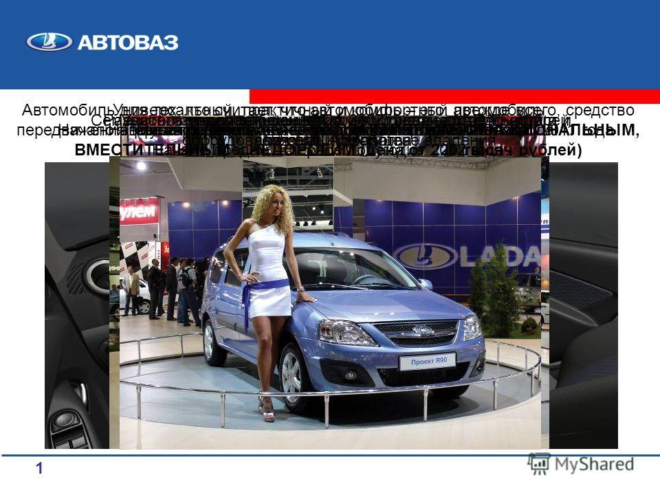 1 45 лет со дня основания АВТОВАЗ сегодня это Крупнейший автопроизводитель России 26 миллионов автомобилей LADA Около 25% российского рынка легковых автомобилей 13 моделей LADA на сборочных конвейерах Трудовой коллектив: около 70 тысяч человек 21 тыс