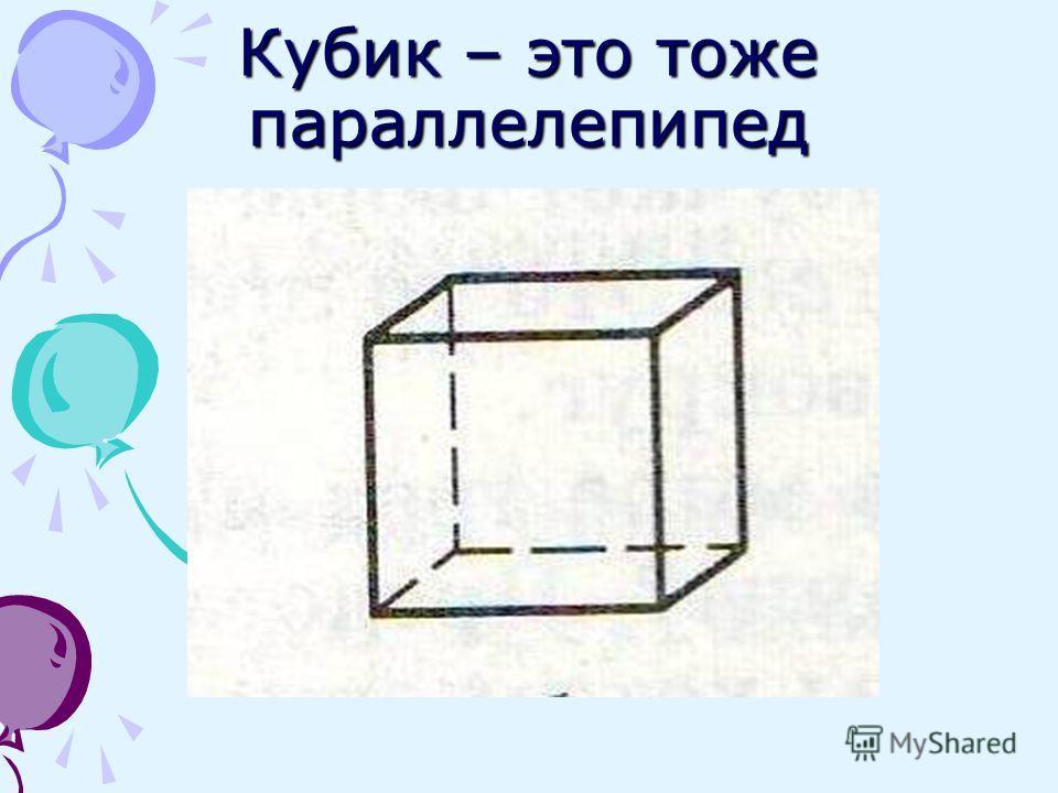 Кубик – это тоже параллелепипед