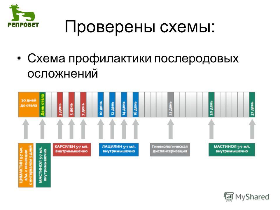 Проверены схемы: Схема профилактики послеродовых осложнений