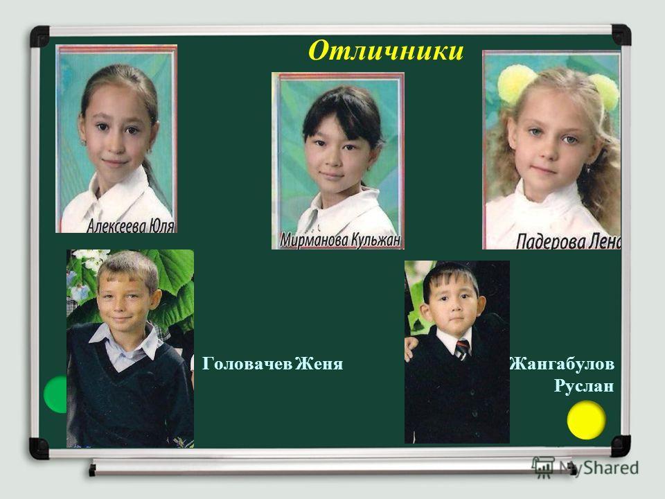 Отличники Головачев Женя Жангабулов Руслан