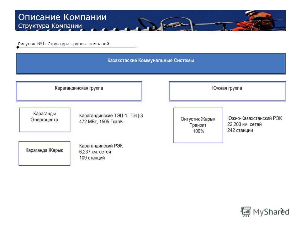 3 Описание Компании Структура Компании Рисунок 1. Структура группы компаний