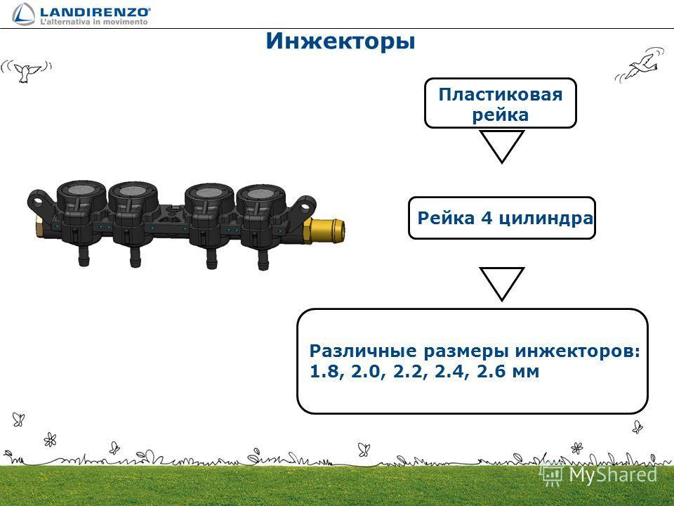 Инжекторы Пластиковая рейка Рейка 4 цилиндра Различные размеры инжекторов: 1.8, 2.0, 2.2, 2.4, 2.6 мм